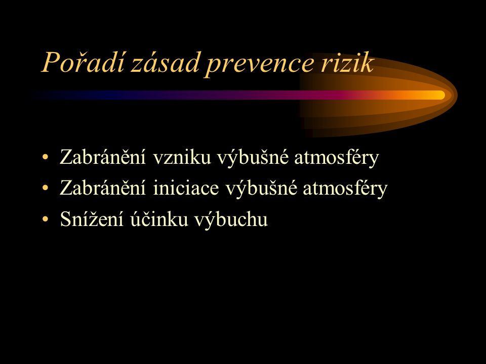 Pořadí zásad prevence rizik