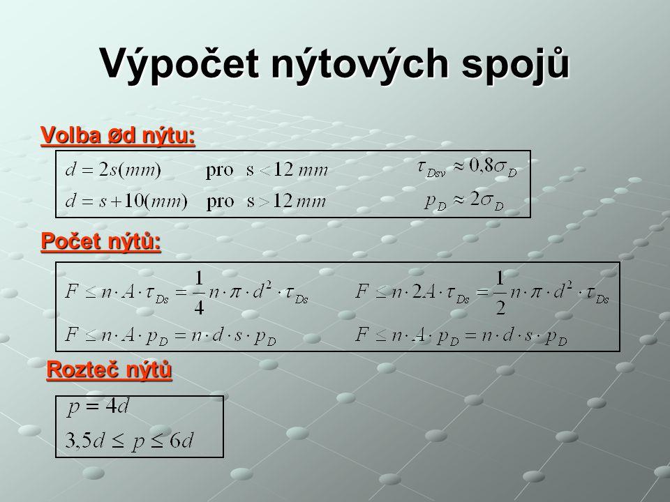 Výpočet nýtových spojů