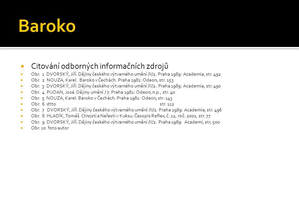 Baroko Citování odborných informačních zdrojů