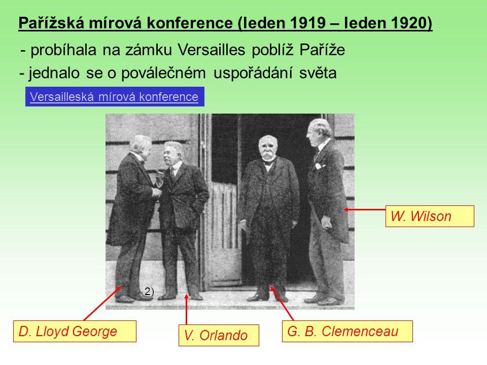 Pařížská mírová konference (leden 1919 – leden 1920)