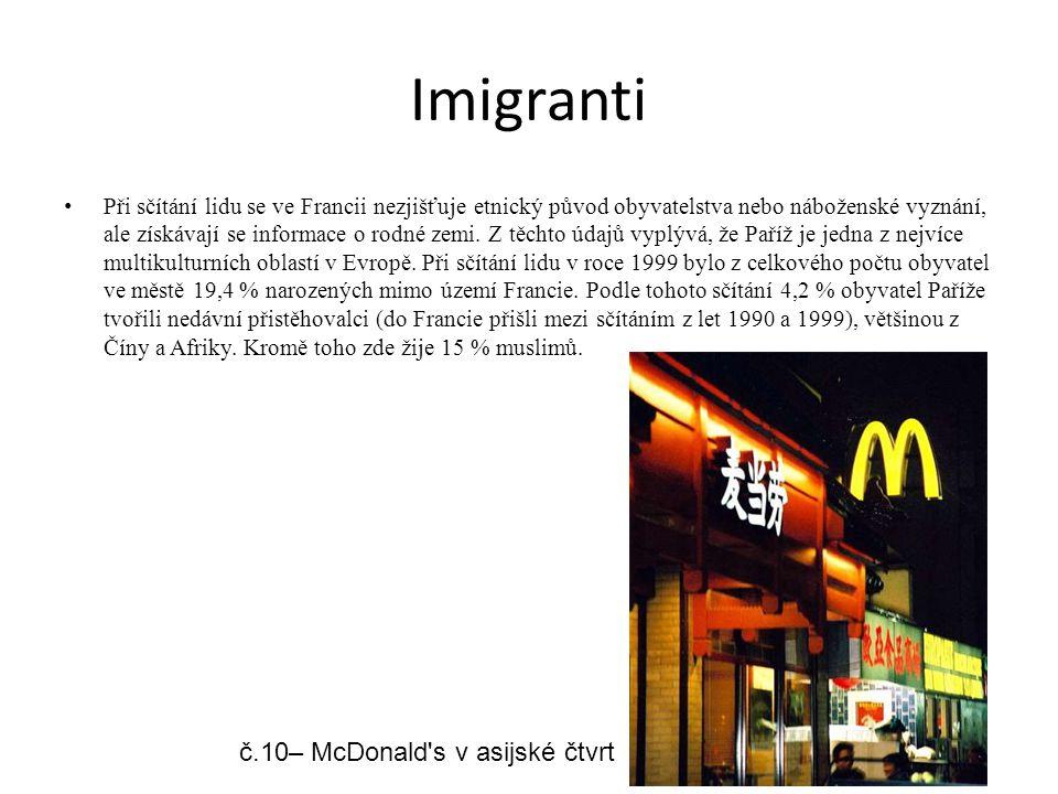 Imigranti č.10– McDonald s v asijské čtvrt