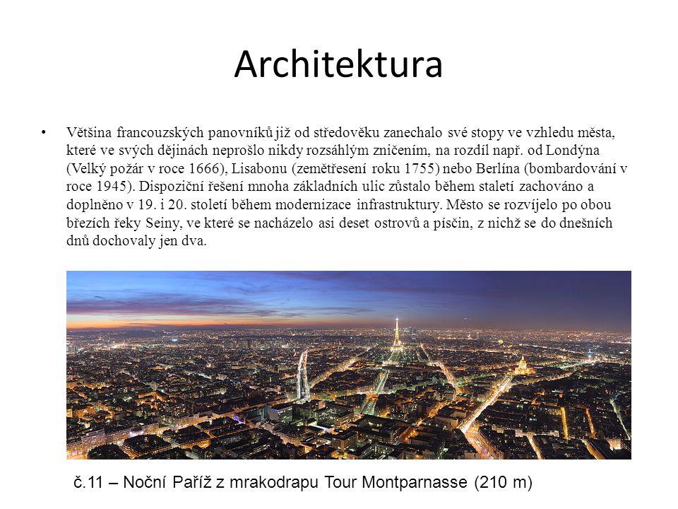 Architektura č.11 – Noční Paříž z mrakodrapu Tour Montparnasse (210 m)