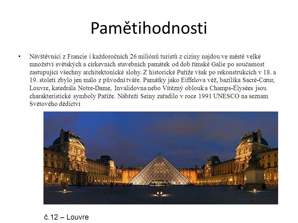 Pamětihodnosti č.12 – Louvre