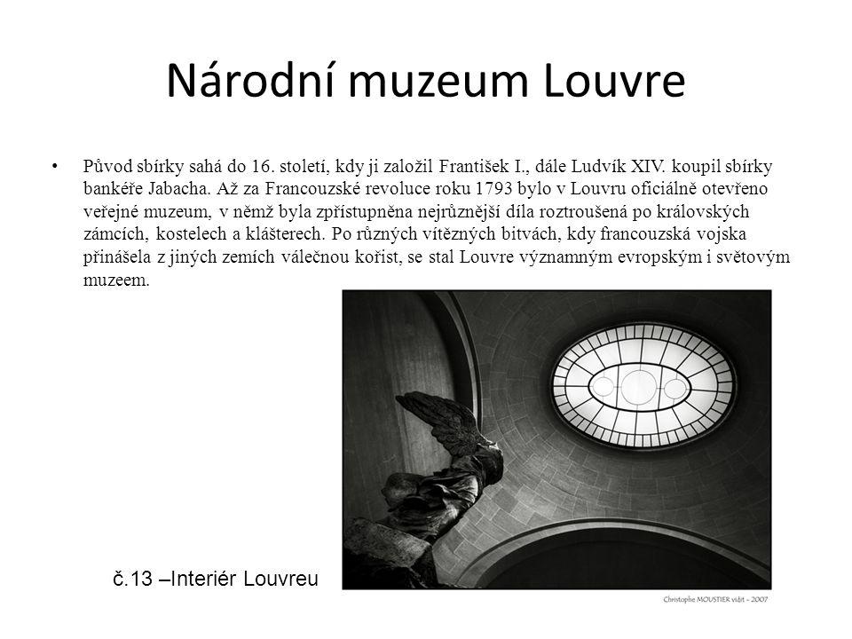 Národní muzeum Louvre č.13 –Interiér Louvreu