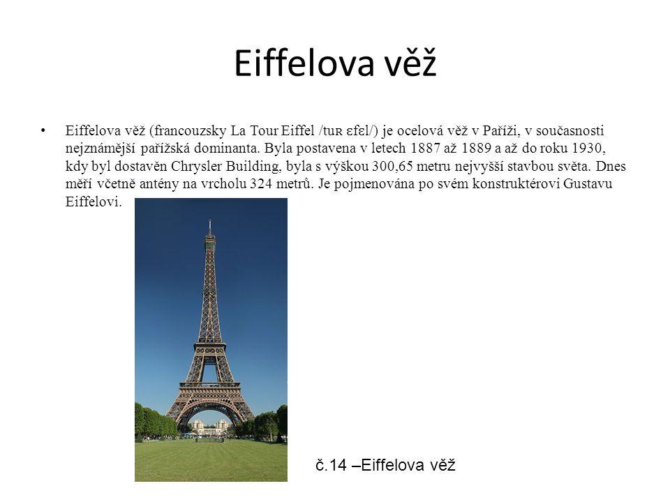 Eiffelova věž č.14 –Eiffelova věž