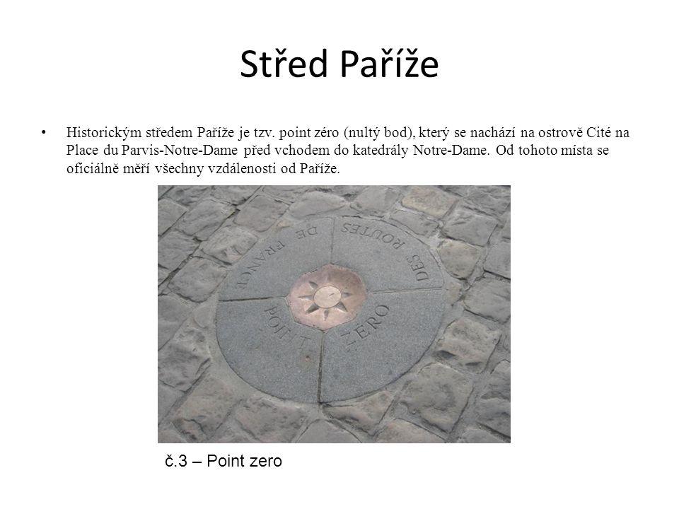 Střed Paříže č.3 – Point zero