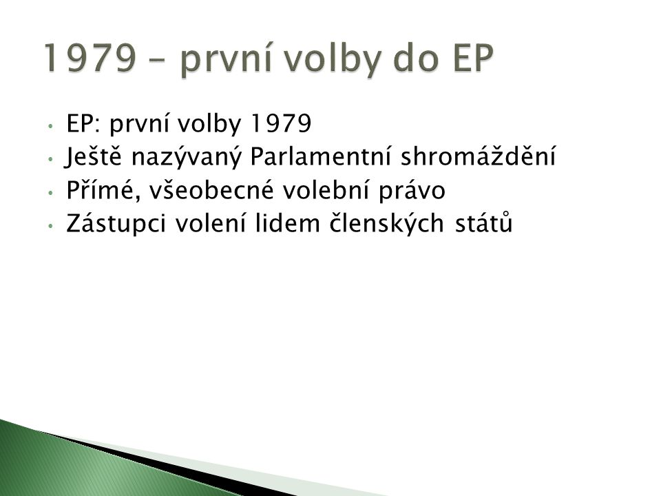 1979 – první volby do EP EP: první volby 1979