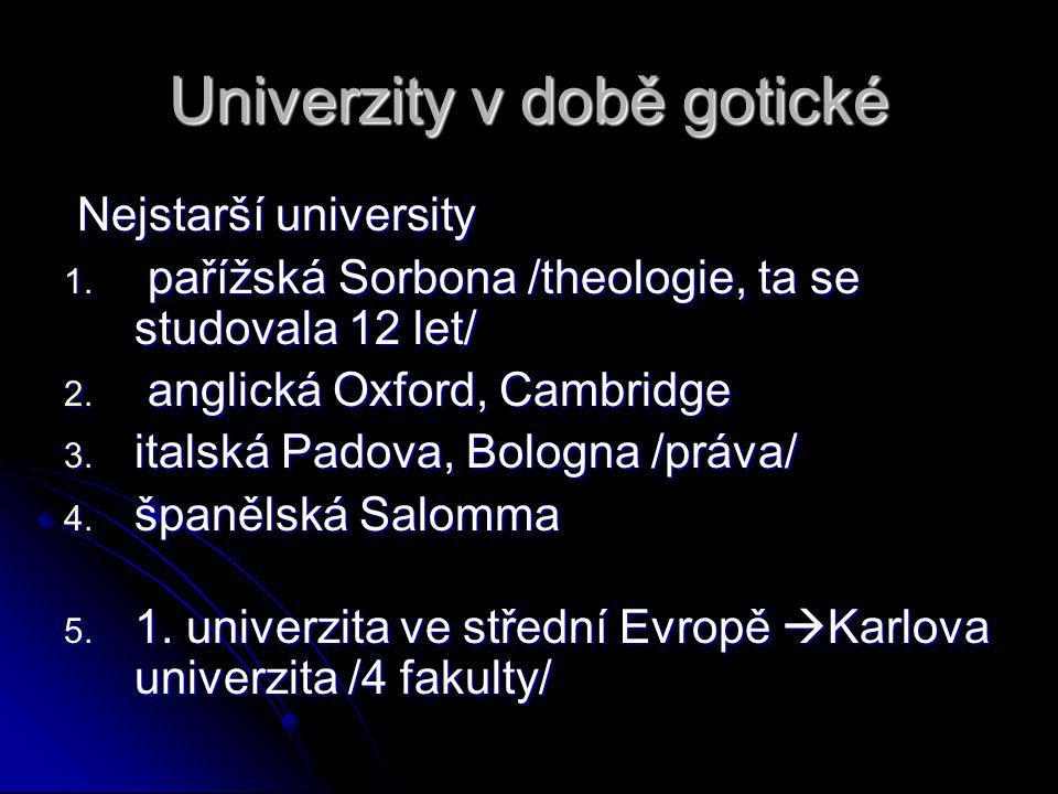 Univerzity v době gotické