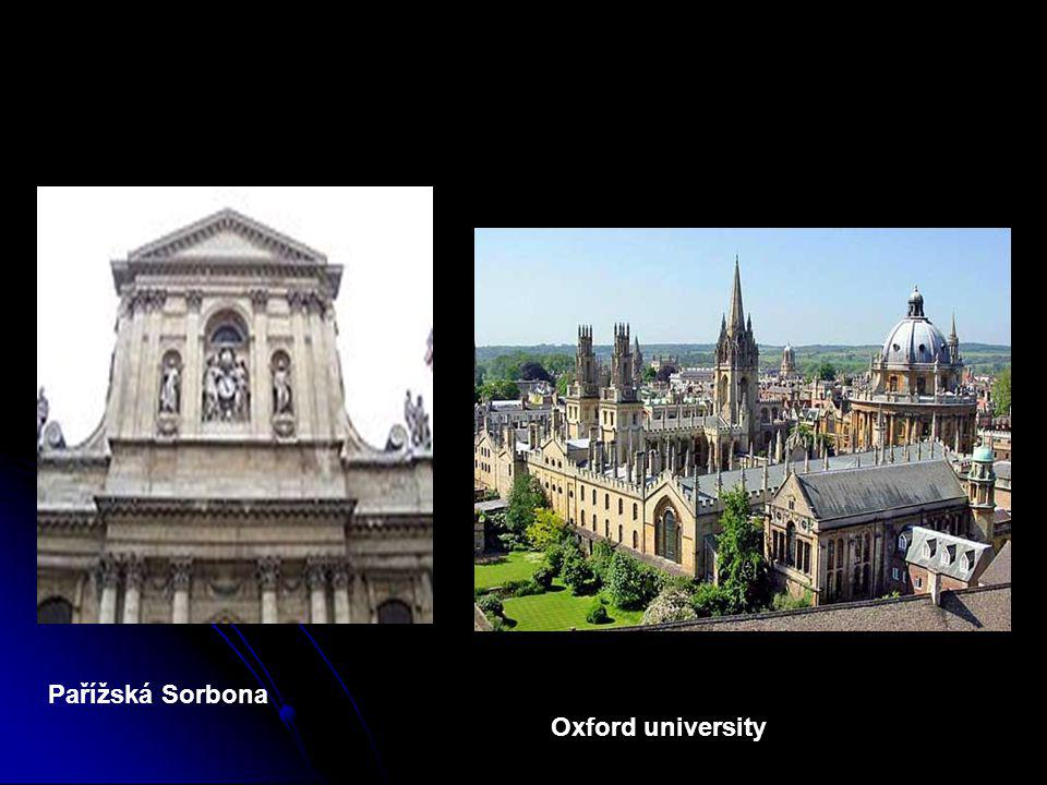 Pařížská Sorbona Oxford university