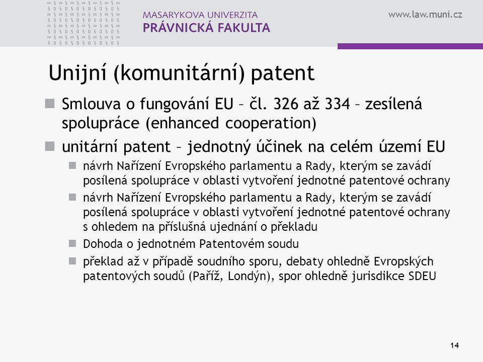 Unijní (komunitární) patent