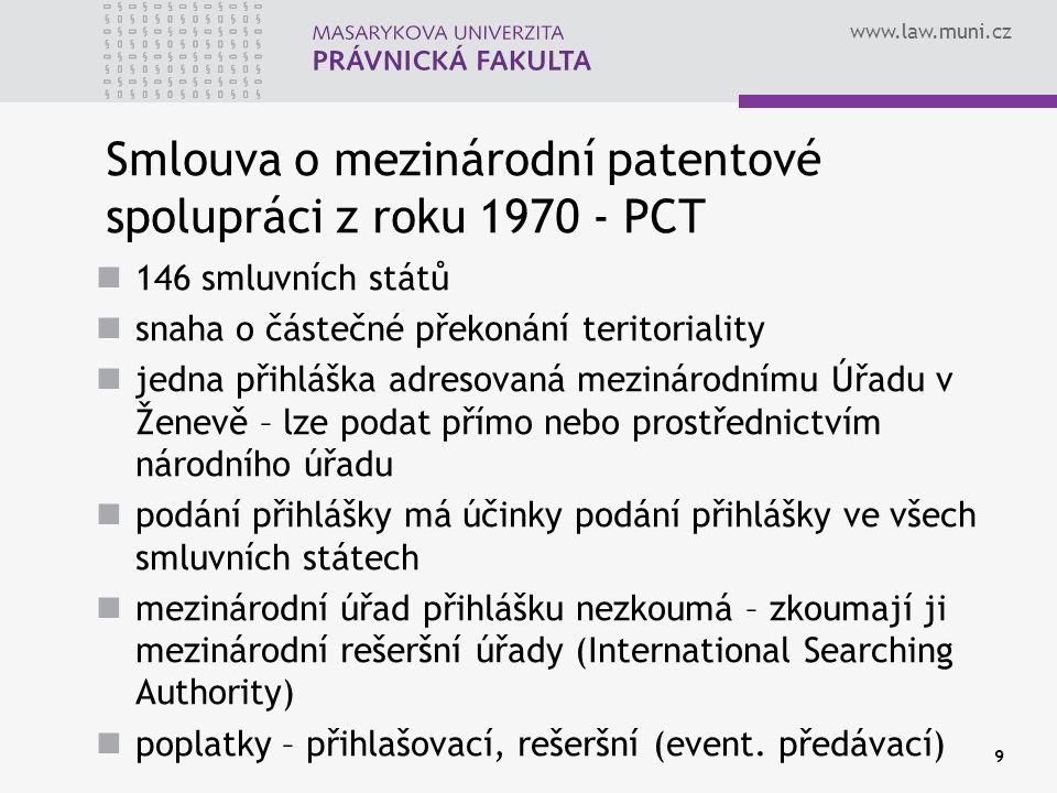 Smlouva o mezinárodní patentové spolupráci z roku 1970 - PCT