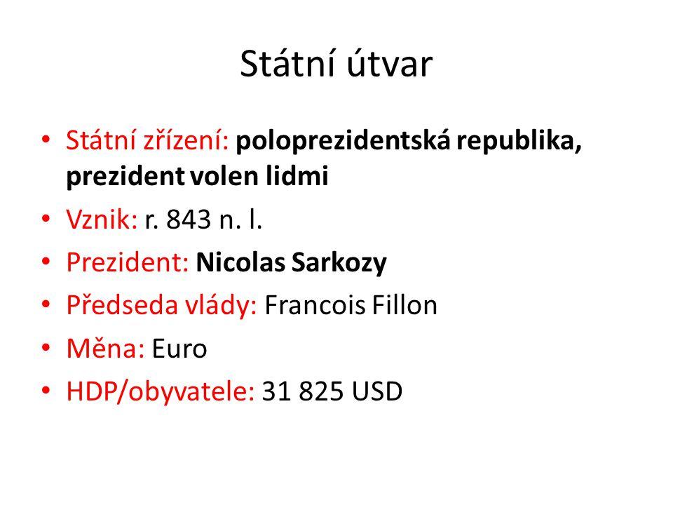 Státní útvar Státní zřízení: poloprezidentská republika, prezident volen lidmi. Vznik: r. 843 n. l.