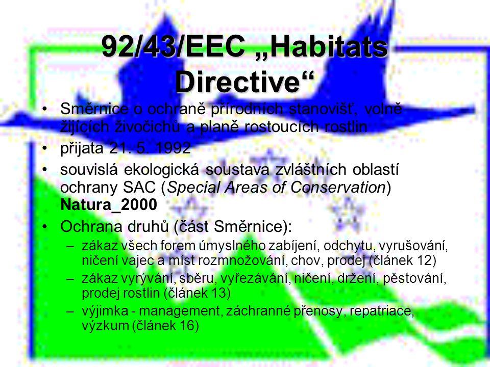 """92/43/EEC """"Habitats Directive"""