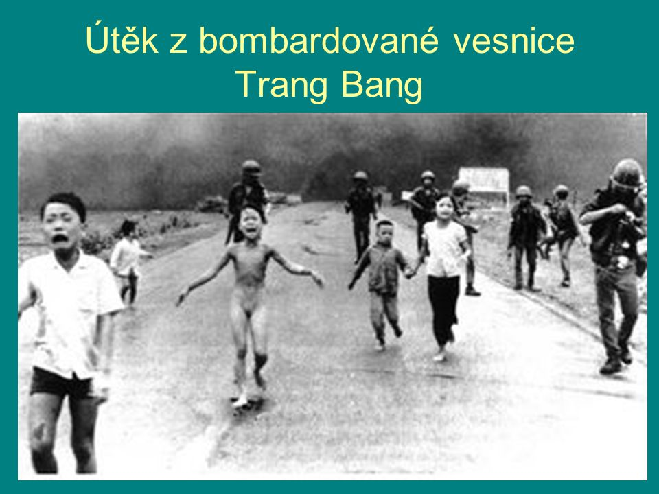 Útěk z bombardované vesnice Trang Bang
