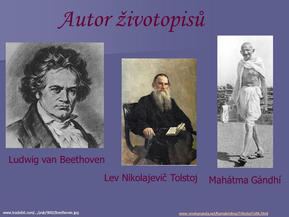 Autor životopisů Ludwig van Beethoven Lev Nikolajevič Tolstoj