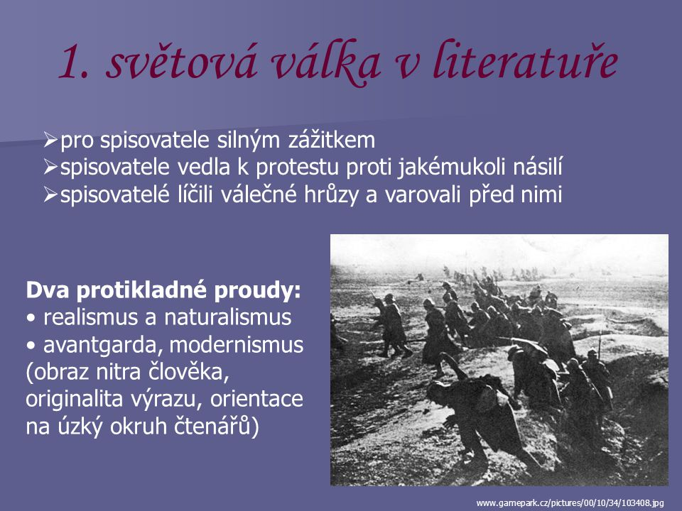 světová válka v literatuře