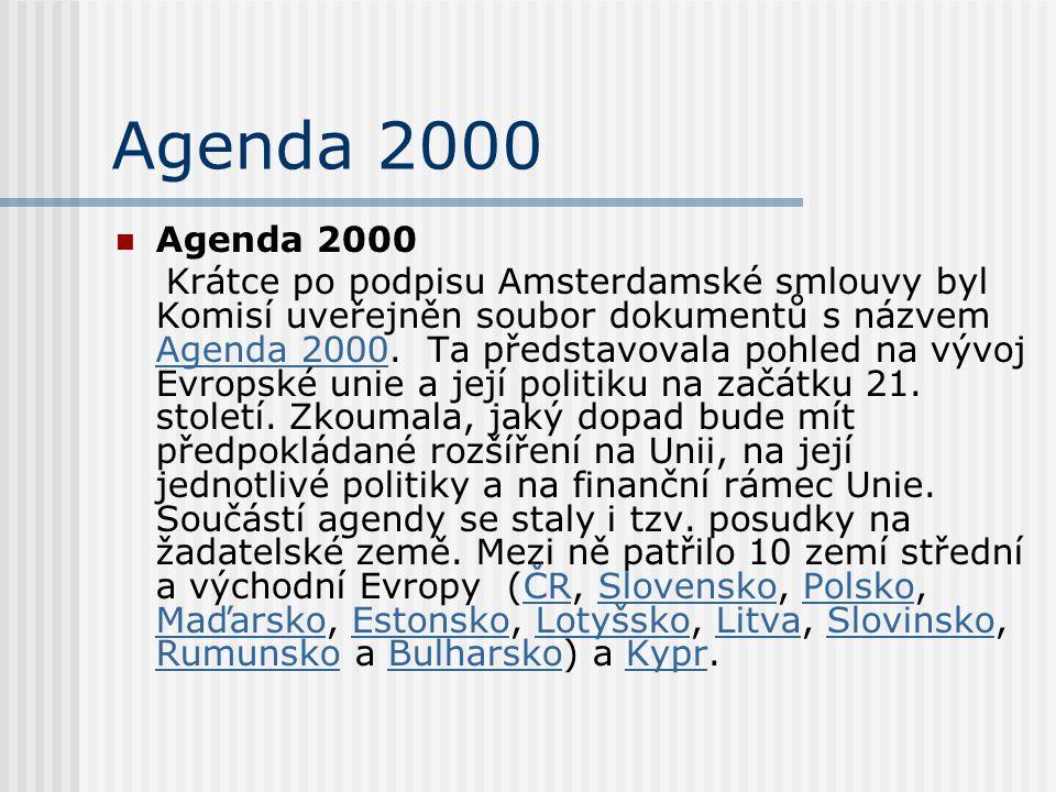 Agenda 2000 Agenda 2000.