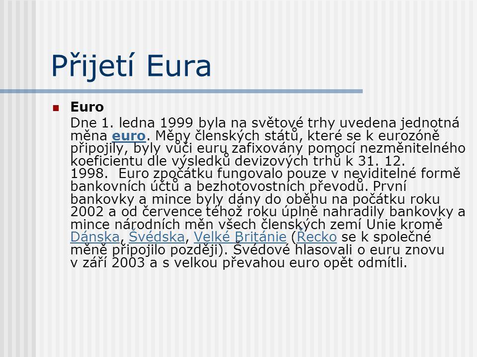 Přijetí Eura Euro