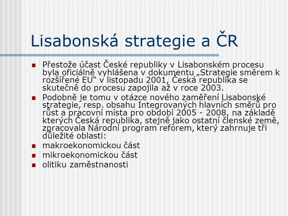 Lisabonská strategie a ČR
