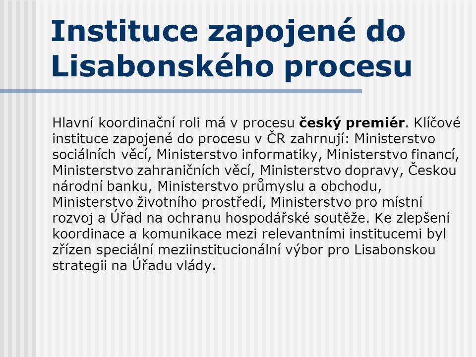 Instituce zapojené do Lisabonského procesu