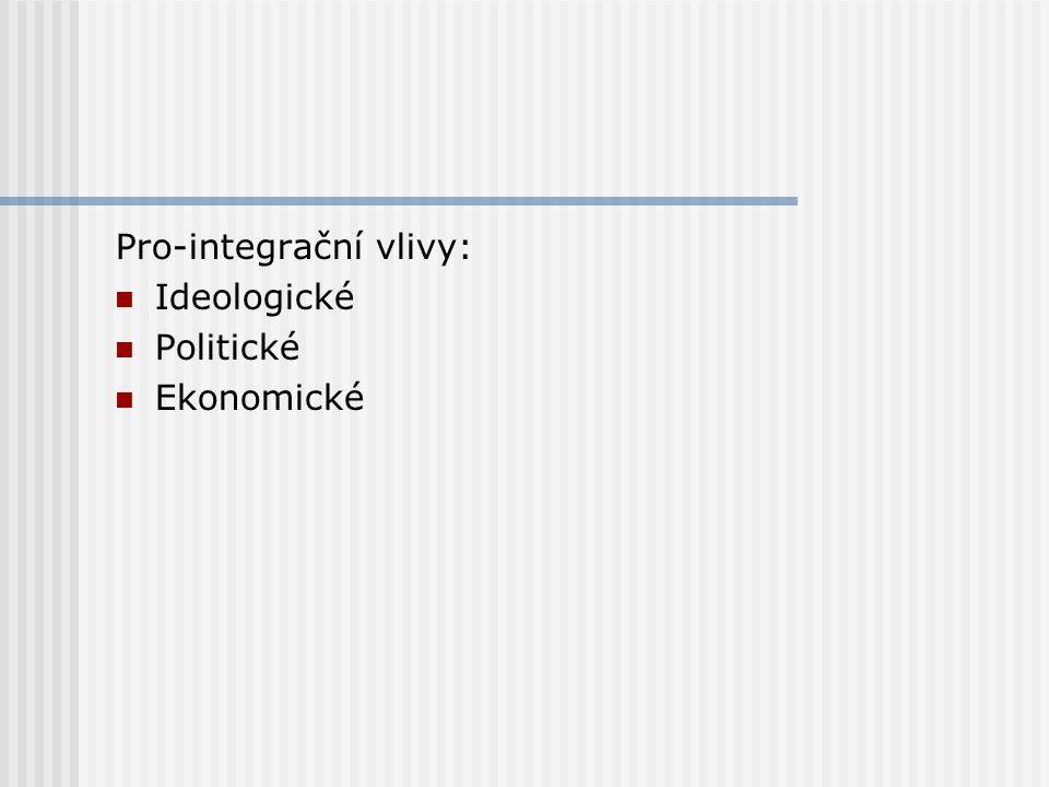 Pro-integrační vlivy:
