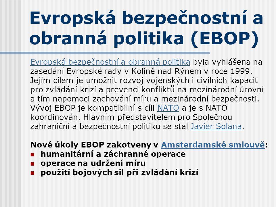 Evropská bezpečnostní a obranná politika (EBOP)