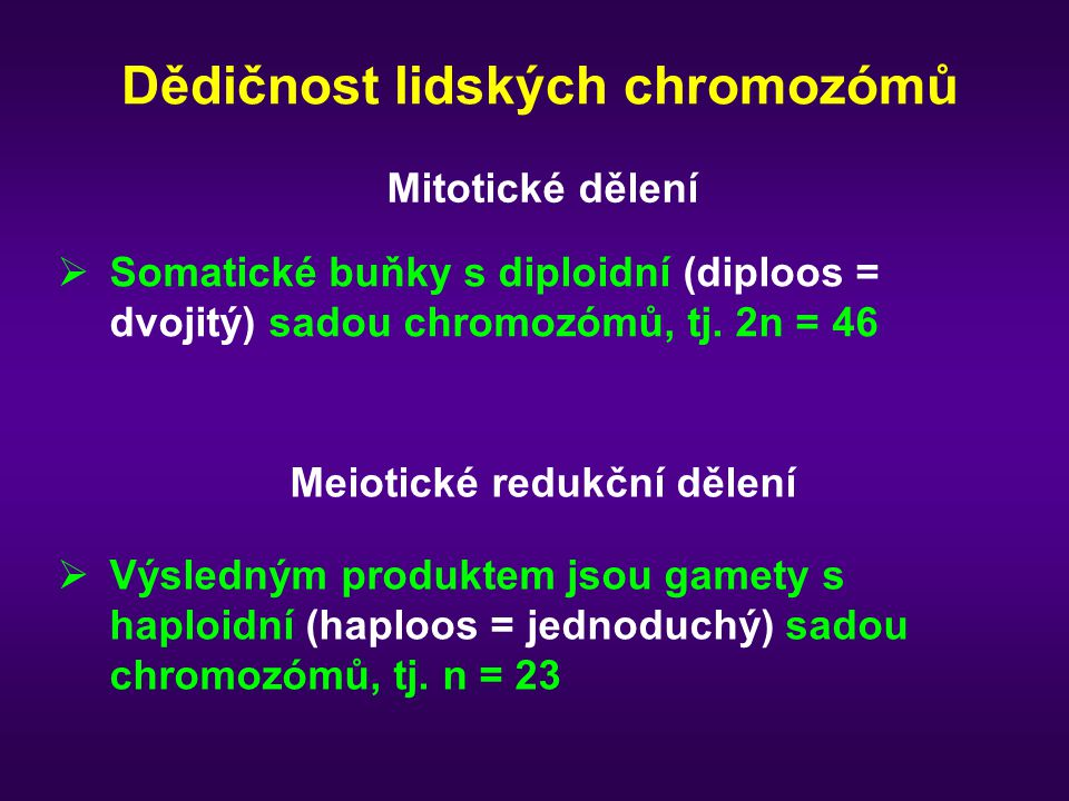 Dědičnost lidských chromozómů