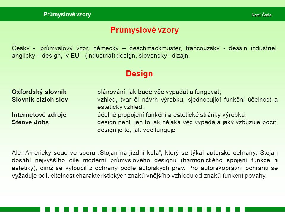 Průmyslové vzory Design