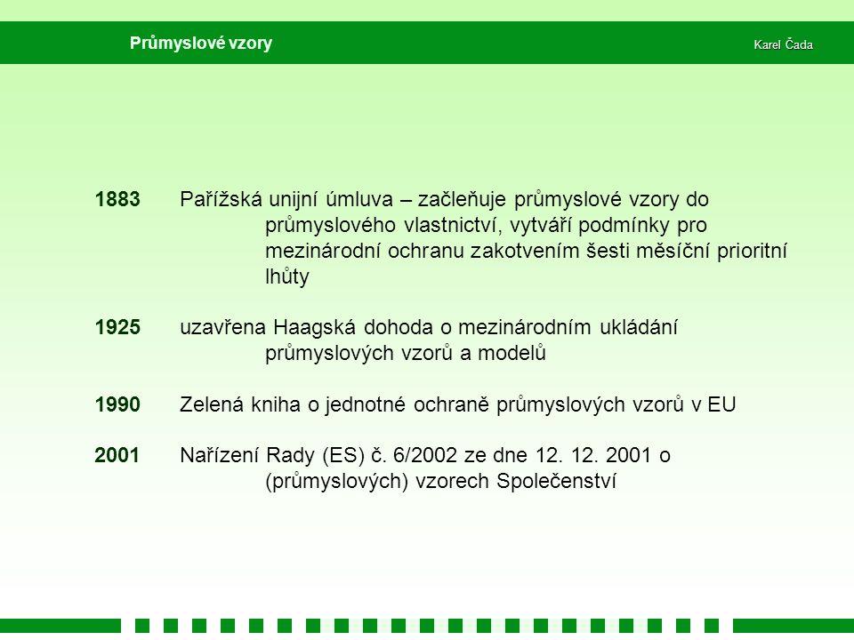 1990 Zelená kniha o jednotné ochraně průmyslových vzorů v EU
