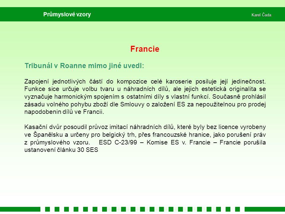 Francie Tribunál v Roanne mimo jiné uvedl: