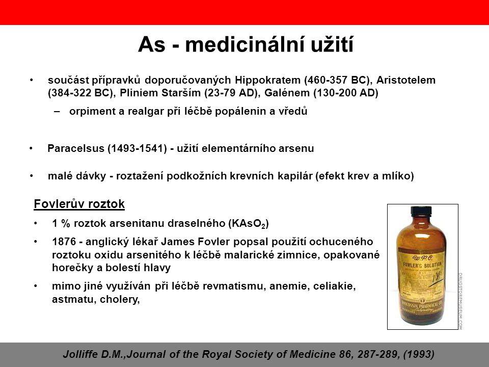 As - medicinální užití Fovlerův roztok