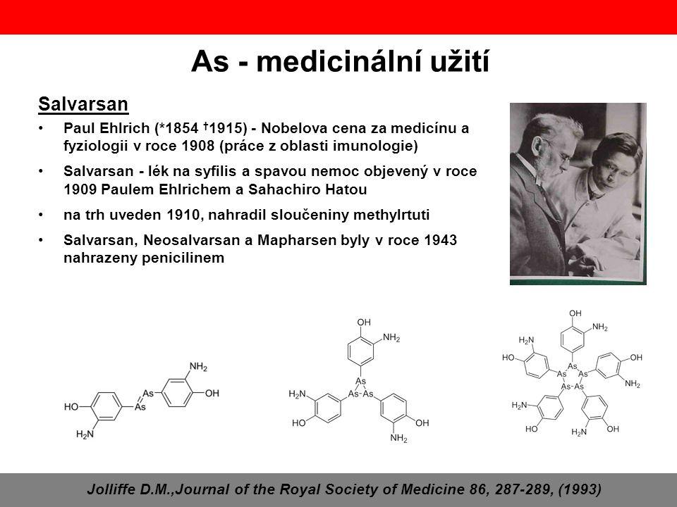 As - medicinální užití Salvarsan
