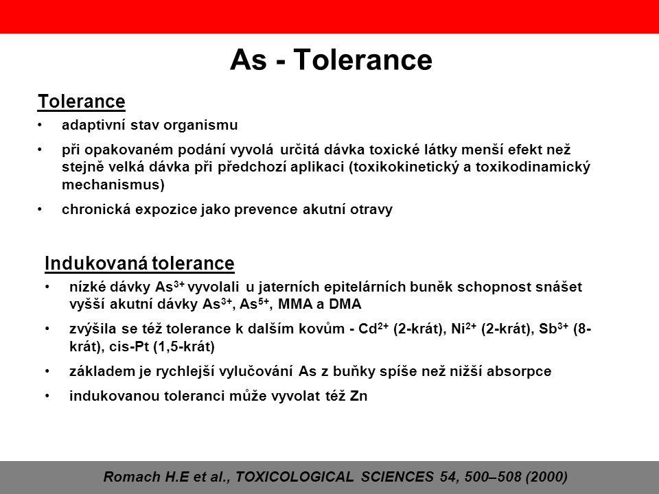 Romach H.E et al., TOXICOLOGICAL SCIENCES 54, 500–508 (2000)