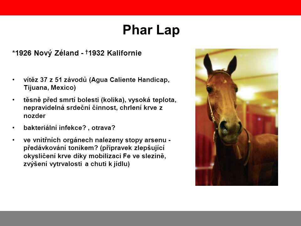 Phar Lap *1926 Nový Zéland - †1932 Kalifornie