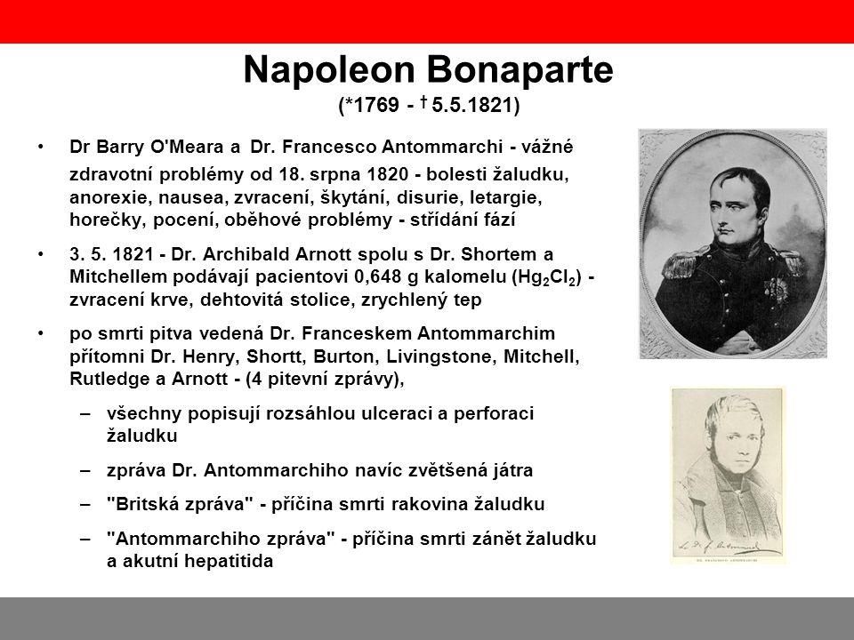 Napoleon Bonaparte (*1769 - † 5.5.1821)
