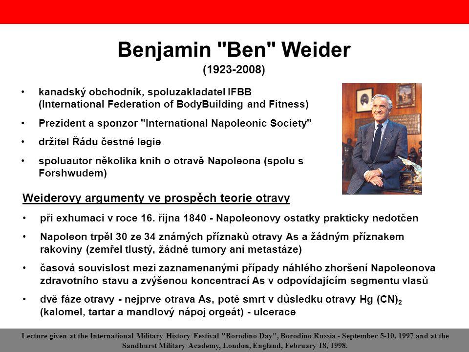 Benjamin Ben Weider (1923-2008)