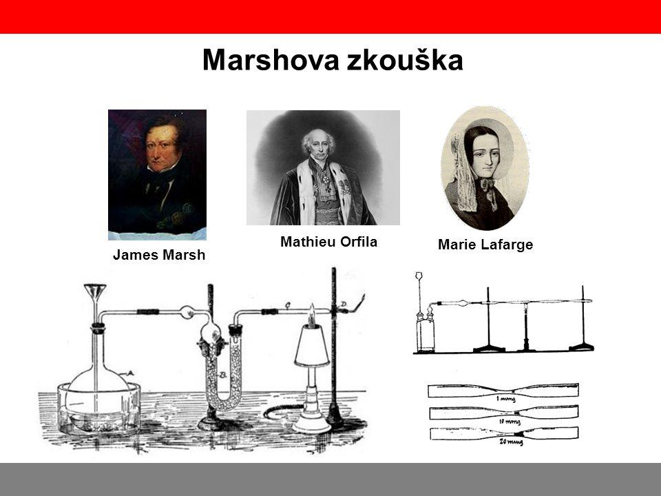 Marshova zkouška Mathieu Orfila Marie Lafarge James Marsh
