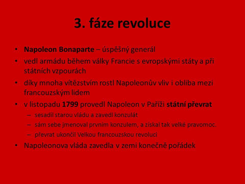 3. fáze revoluce Napoleon Bonaparte – úspěšný generál