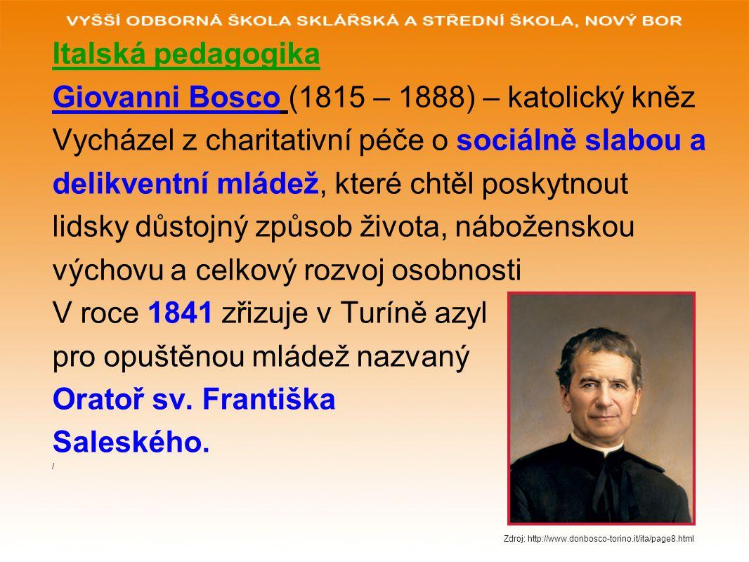 Giovanni Bosco (1815 – 1888) – katolický kněz
