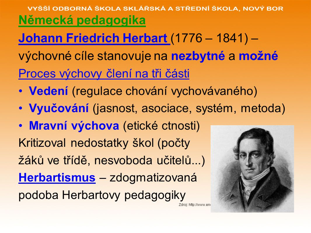 Johann Friedrich Herbart (1776 – 1841) –