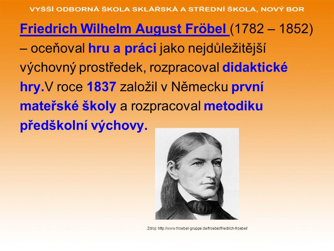 Friedrich Wilhelm August Fröbel (1782 – 1852)