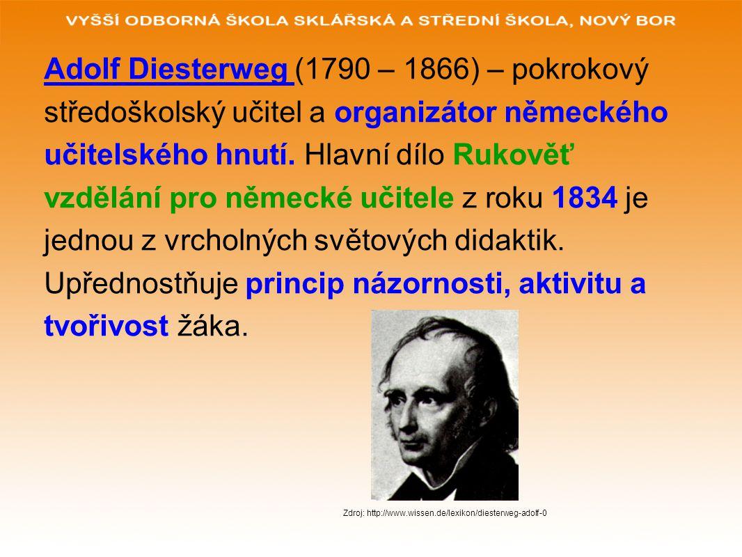 Adolf Diesterweg (1790 – 1866) – pokrokový