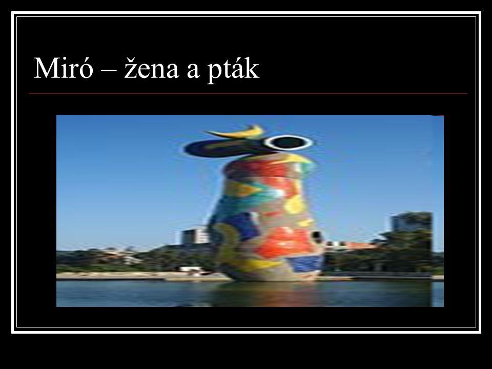 Miró – žena a pták