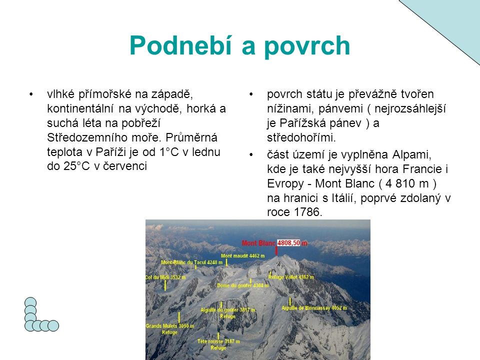 Podnebí a povrch