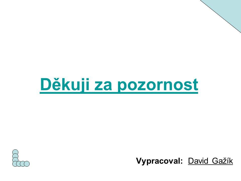 Vypracoval: David Gažík