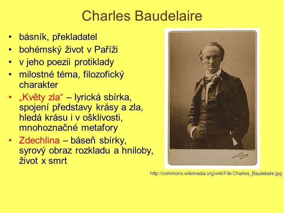Charles Baudelaire básník, překladatel bohémský život v Paříži