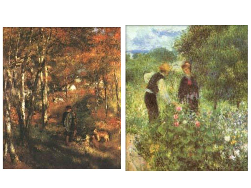 Les ve Fontainebleau; Sbírání květin