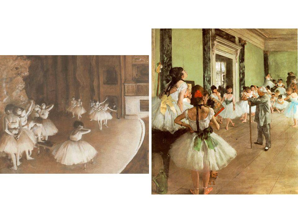 Zkouška baletu na scéně; Taneční třída; 1874-1876