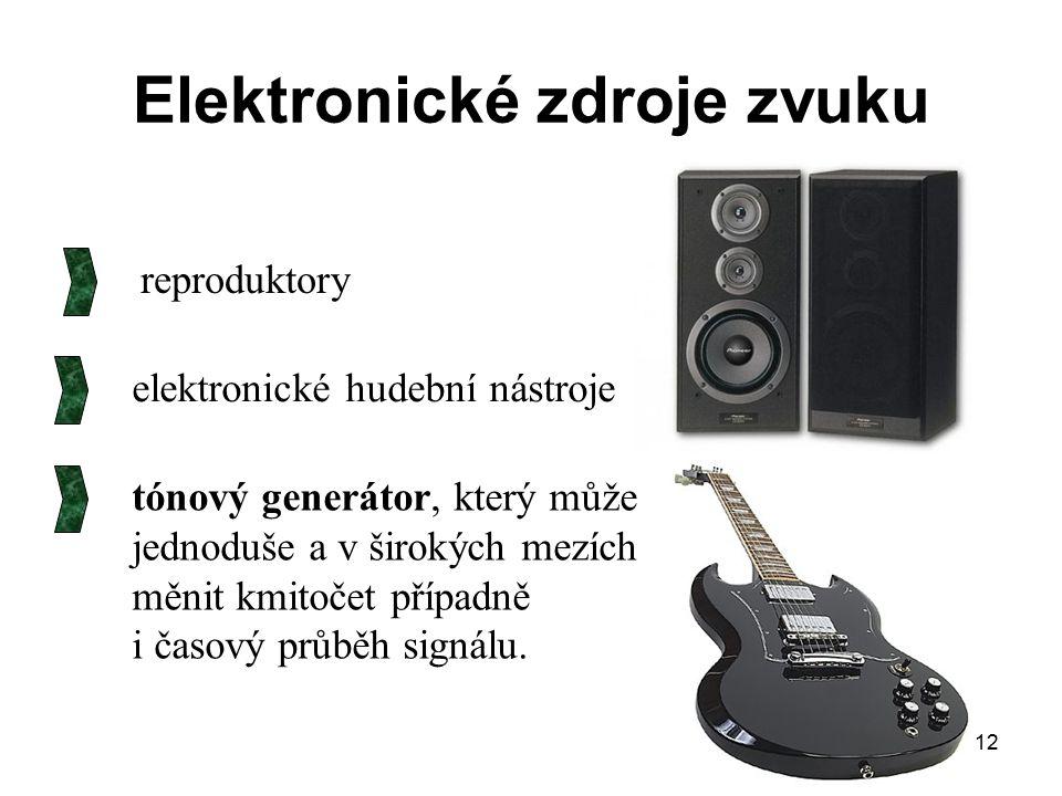 Elektronické zdroje zvuku