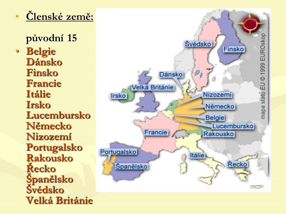 Členské země: původní 15